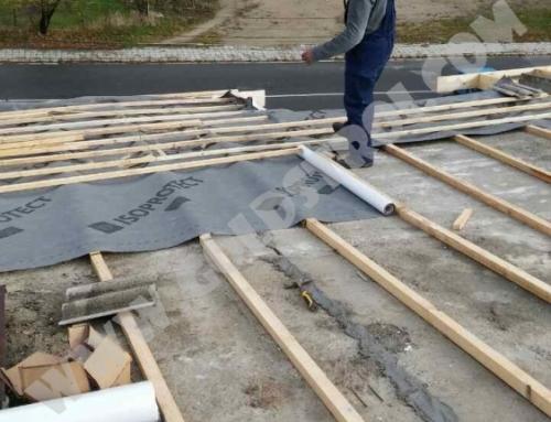 Изолация на покрив със стърготини