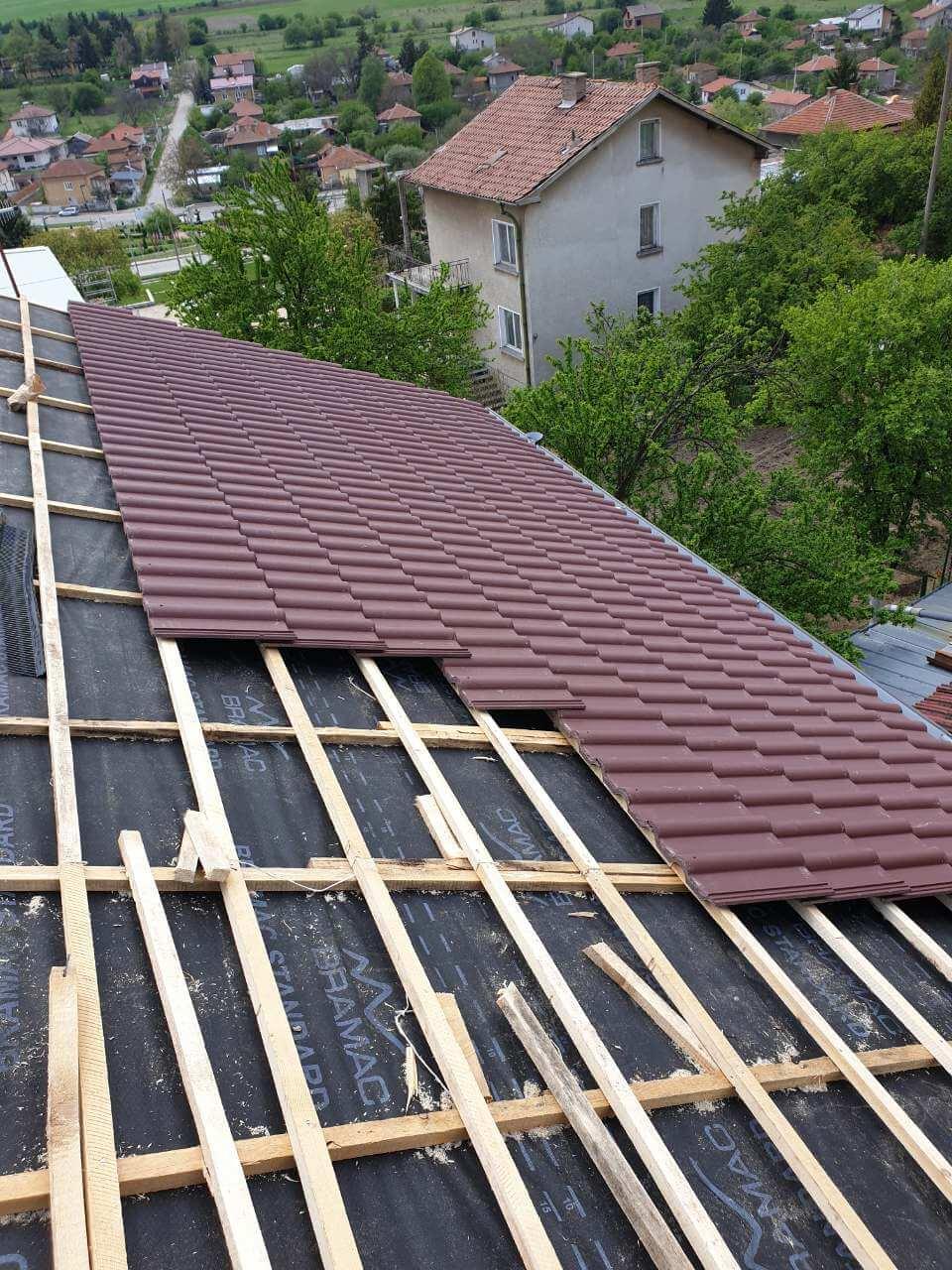 Ремонт на покрив гр. Трявна с.Неиковци 3