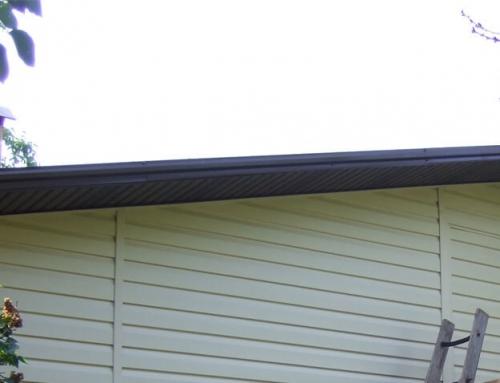 Как да подшием стрехите под покрива?